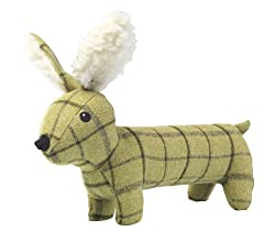 Tweed plush long hare Fun plush dog toy This toy does contain a plastic squeaker