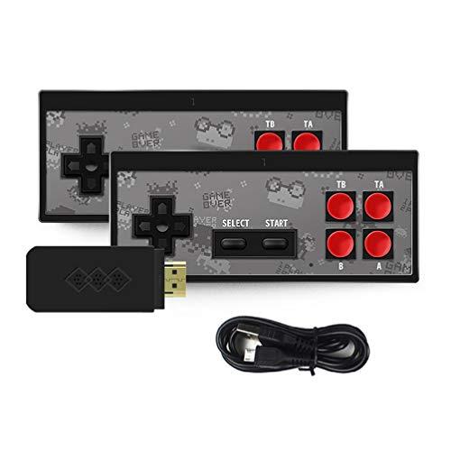 Mini consola de juegos de mano inalámbrica consola de juegos doble juego con 750 incorporado y no NES juegos consola de juegos construida