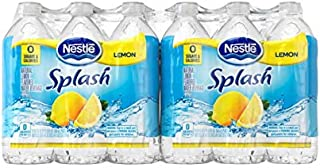 Nestlé Splash Water Beverages, Lemon, 16.9 Oz, Case of 24 Bottles