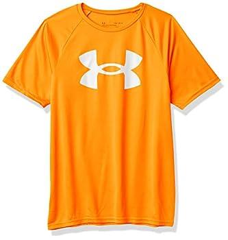Under Armour Boys  Tech Big Logo Short-Sleeve T-Shirt  Blaze Orange  825 /White  Youth X-Small