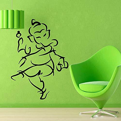 Jsnzff DIY Grandes Pegatinas de Pared Yoga Gimnasio Tatuajes de Pared Sala de Estar decoración del hogar Vinilo Arte Mural decoración 87x120 cm