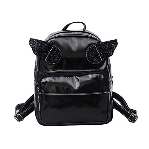 FENICAL Backpack Laser School Bag Angel Wings Travel Anti-theft Daypack for Women Girl (Pink)