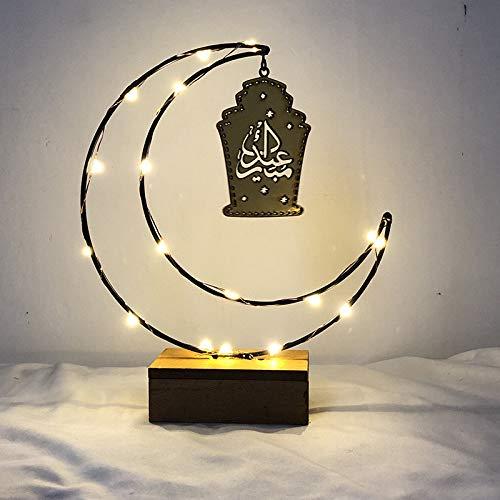Sooiy Ramadan Jeûne lumières de Noël LED Lumières Lune Lumières Luminaria Romantique Chambre Décor Lampe de Nuit bébé d'anniversaire d'enfants Cadeau de Noël