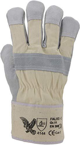 ASATEX Rindspaltleder-Handschuh FALKE-C, naturfarben (12 Paar)