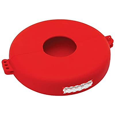 """Lockout Safety Supply 7247 Gate Valve Lockout, 6.5"""" - 10"""" Wheel, Red by Zing Enterprises"""