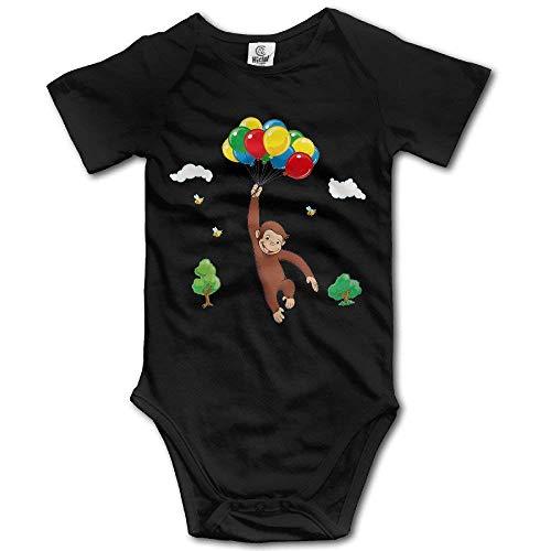 WlQshop Baby-Strampler, Motiv: Curious George Ballon Bee, Vintage-Stil Gr. 12 Monate, mehrfarbig