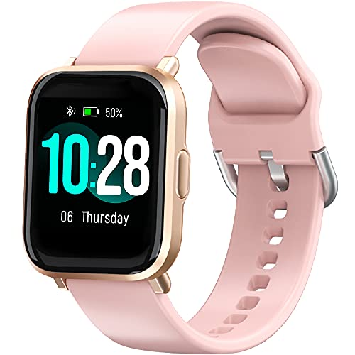 BYTTRON Smartwatch,1.3 Zoll Touch-Farbdisplay Fitness Uhr Damen Armbanduhr mit Pulsuhr, Schrittzähler, Schlafmonitor, Stoppuhr, Fitness Tracker IP68 Sportuhren fürSmartphone