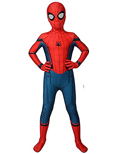 Kids Cosplay Bodysuit Superhero Costume For Boys Spandex Zentai Jumpsuit,S