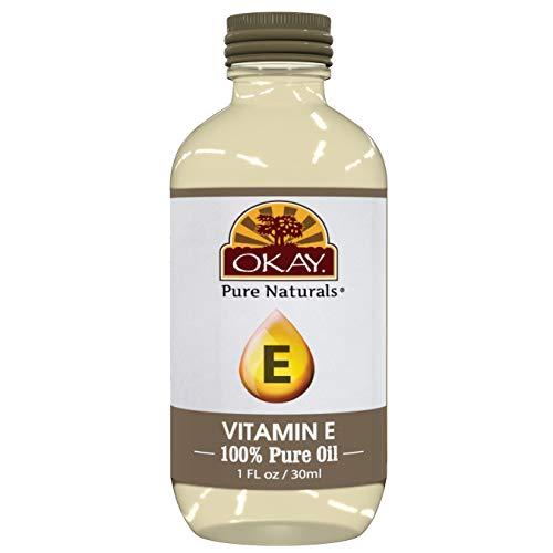Okay Vitamin E Oil For All Hair Textures & Skin Types, All Natural, 1 Fl Oz