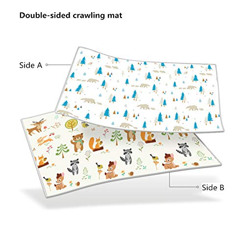 %41 OFF! WWDH Xpe 1cm Thick Baby Crawling Mat,not-Slip Double-Sided Foam Play Mat,Living Kids Playing Mats,Home Educational Area Rug-i 1801501cm