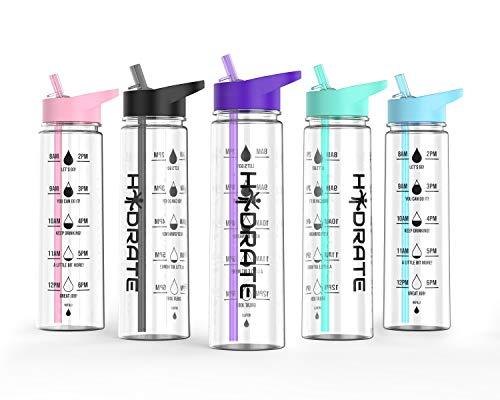 HYDRATE Motivational Water Bottle (Purple)
