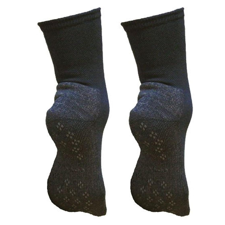 三番驚ロック解除銅繊維靴下「足もとはいつも青春」パイルタイプ2足セット 靴底のあたたかさ重視