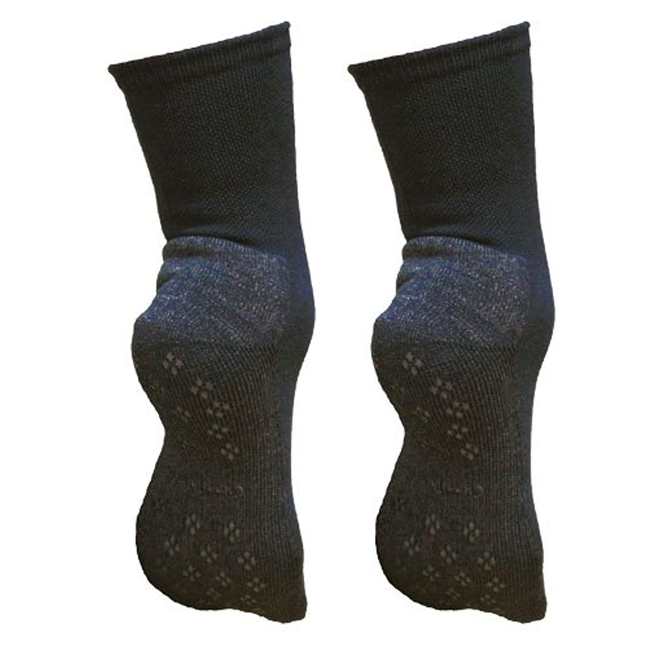 引き算戦術消費者銅繊維靴下「足もとはいつも青春」パイルタイプ2足セット 靴底のあたたかさ重視