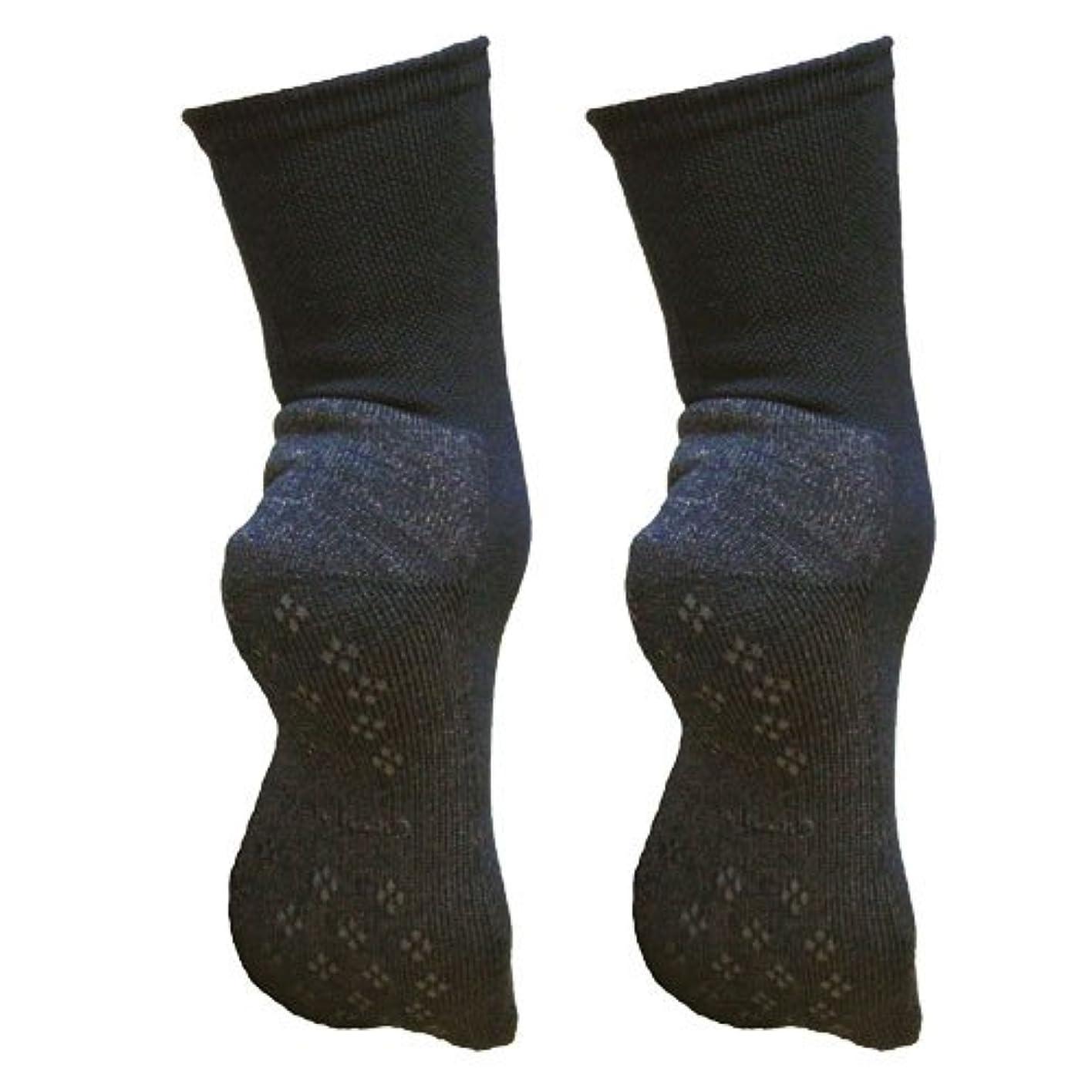一過性同盟エンジニア銅繊維靴下「足もとはいつも青春」パイルタイプ2足セット 靴底のあたたかさ重視