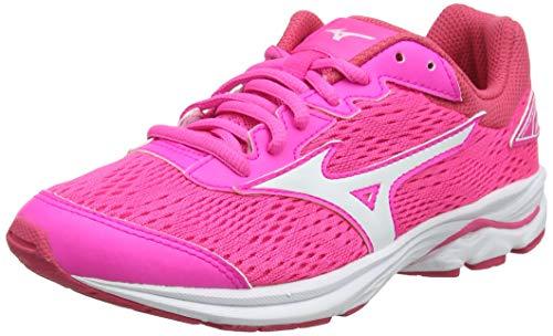 Mizuno Unisex Kids Wave Rider 22 Jr Running Shoes Pink Pink GloPort RoyaleCharlock 07 5 UK