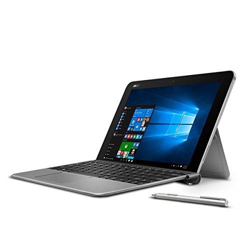 "Premium ASUS Transformer 10.1"" Touchscreen 2-in-1 Laptop PC with Keyboard and Stylus Pen Intel Atom x5-Z8350 Processor 4GB RAM 64GB SSD 802.11AC Wifi HDMI Bluetooth Webcam Windows 10-Gray"