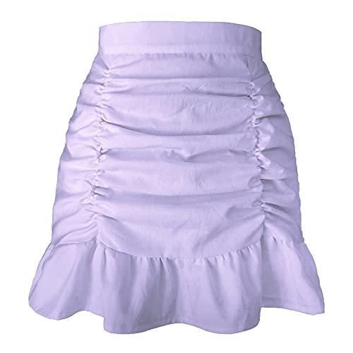 Faldas De Mujer Harajuku Estilo Caliente Falda Cremallera Faldas Puro