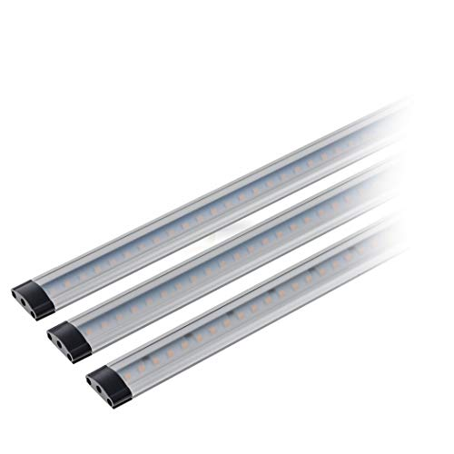 SEBSON LED Lichtleiste warmweiß, dimmbar (Touchfuktion), LED Leiste 30 cm, LED Unterbauleuchte 3er Set