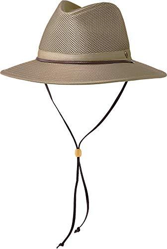 Coolibar UPF 50+ Men's Kaden Crushable Ventilated Hat - Sun Protective (XX-Large- Khaki)