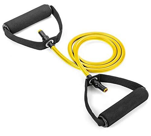 ML Bandas de Resistencia Elástica Banda Elastica Cuerda de Tracción de Yoga Entrenamiento de Fitness, Bandas Deportivas Yoga Caucho de Tracción de Cuerda de Tracción Crossfit (Amarilla)