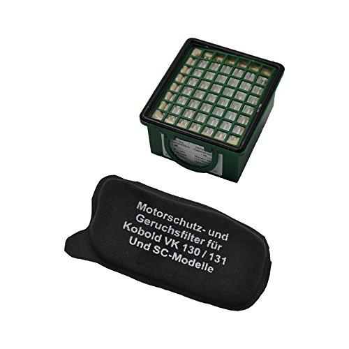 TOP SET - Filterset (Geruchsfilter/Aktiv - Kohlefilter/AGF Filter) + (HEPA (Mikro) Filter/Mikrofilter / Hepafilter) geeignet Für Vorwerk Kobold VK 130 131 SC, VK130, VK131