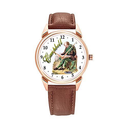 Reloj de hombre con mecanismo de cuarzo, resistente al agua, con diseño de camuflaje, madera de Balsa, réplica de avión