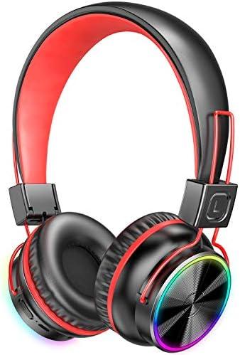 PeohZarr Kids Wireless Headphones with Microphone LED Light Up 94dB Kids Bluetooth On Ear Headphones product image