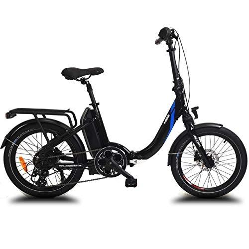 URBANBIKER vélo électrique Pliant Mini (Noir) .Batterie Lithium Samsung 36 V 14 Ah (504 Wh) Moteur 250W. 20 Pouces, Freins hydrauliques Shimano