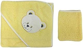 a91182ff519d amarilla juego de baño de bebé - cabeza de oso Motif