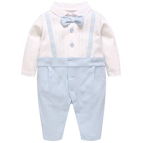 Famuka Baby Jungen Anzug Baby Smoking Neugeborenen Strampler (B, 59)