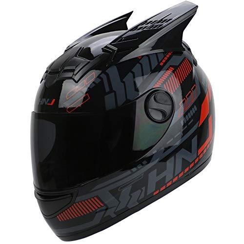 NANE Casco De Moto Crash Modular Casco De Moto De Carreras De Cara Completa Aprobado por ECE con Visera para Adultos Hombres Mujeres,C,XXL