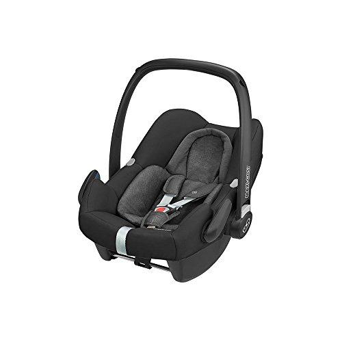Maxi-Cosi Rock Babyschale, sicherer i-Size Babyautositz, Gruppe 0+ (0-13 kg), nutzbar ab der Geburt bis 12 Monate, Babysitz Auto, Nomad Black, schwarz