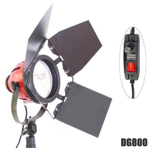 DYNASUN DJ800 - Lampada alogena professionale da 800 W, al quarzo, per studio video e foto