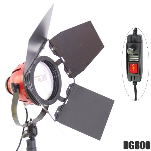 Quarzo Professionale DynaSun Dj800 800 W alogena Luce video Quartz film lampada studio Redhead dimmerabile, con sportelli schermanti per Video e Studio fotografico
