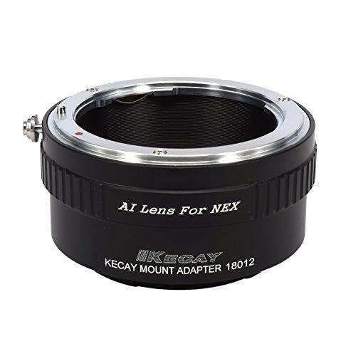 KECAY Adaptador para Adaptar Lentes de Nikon AI Mount a Cámaras Sony...
