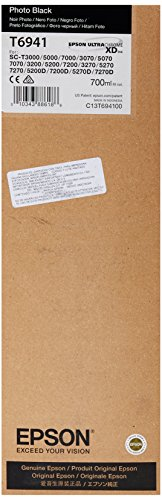 Epson Photo Black Ultra Chrome XD Ink Cartridge, 700 ml (T694100)
