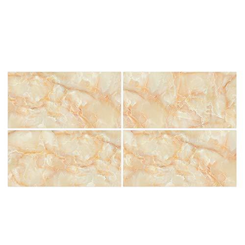 XUNXI Calcomanía de Pared, 4 Piezas de Azulejos de mármol de Cristal Adhesivo Impermeable PVC calcomanía de Pared decoración de Papel Tapiz