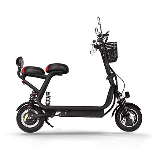 QIONGS Asientos Dobles de Bicicletas eléctricas, la batería de Iones de Litio,...