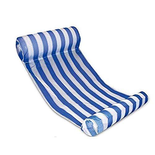 QEPOL Sillón de Hamaca de Agua Flotante para Piscina, Playa, Balsas de Agua inflables, Cama Flotante, Flotador de Resorte Silla Flotante sofá de Agua Tumbona para Adultos natación de Verano (Azul)