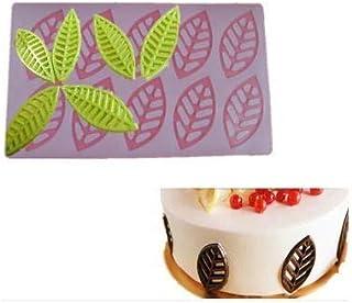 S.Han Silicone Leaf Shape Garnishing Chocolate Mould 8 Cavity Mold Baking Cake Decoration Tool Clay Art Craft