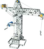 Eitech Crane and Windmill Construction Set and Educational Toy - Intro to Engineering and STEM Learning, Steel (10005-C05)