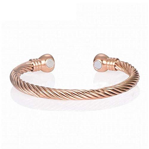 BD.Y Magnetic Bracelet, Copper Bracelet Health Energy 18k Gold-plated Magnets For Carpal Tunnel Migraine Menopause Alleviate Painarthritis Reduce Fatigue Migraine & Pain Relief Jewelry