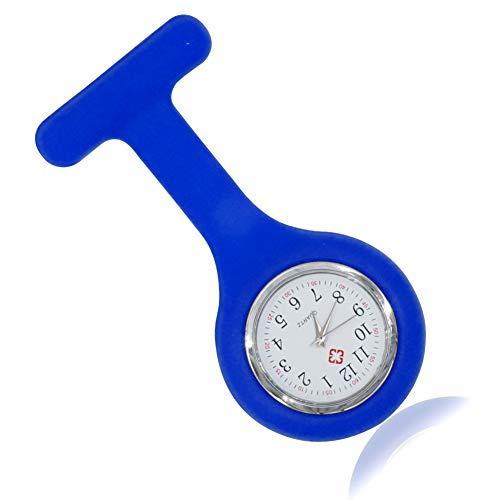 OJBKase Reloj Médico de Enfermera Doctor Prendedor de Broche Conjunto de Reloj de Bolsillo de Silicona Movimiento Cuarzo Original con Clip Colgante en Uniforme Paramédico