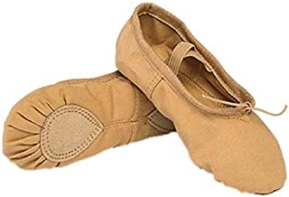 The Dance Bible Unisex Professional Camel Brown Ballet Canvas Shoes | Dance Shoes | Ballerina | Shoes for Dance Classes