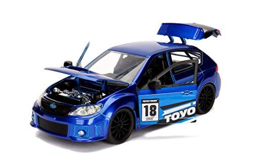 Jada 2012 Subaru Impreza WRX STI JDM Tuners Toyo Tires Blue Blue 1:24 Toys 30390