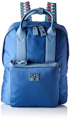 ctta caminatta Estrella, Bolsa para portátil para Mujer, Azul (Tejano), 12x35x30 cm (W x H x L)