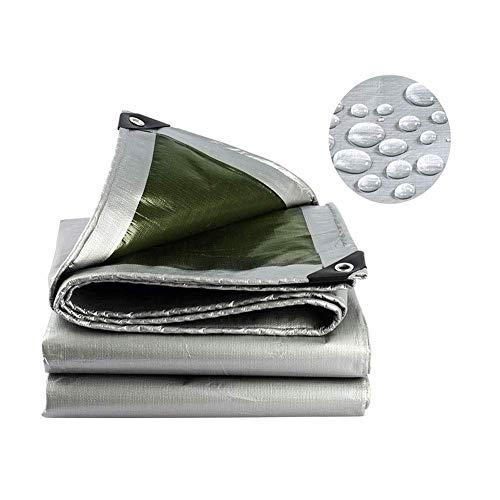 Lona de PE, gruesa de 0.35 mm, lona impermeable para acampar al aire libre,4x10m