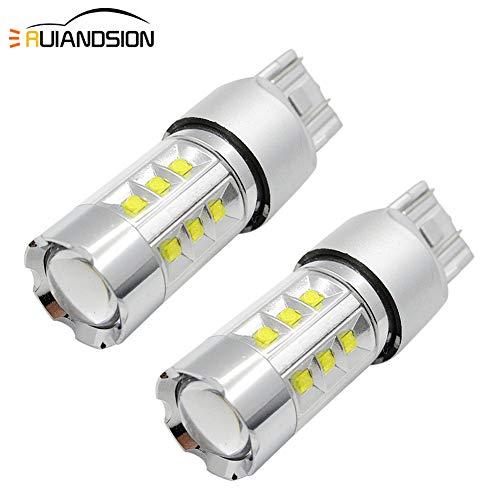 Ruiandsion 2x 7443 7440 Ampoules LED Super Bright 6000K Blanc Jeu de puces CREE 20SMD 1200LM DC 12-24V 100W Ampoule de rechange à LED pour clignotant clignotant de secours