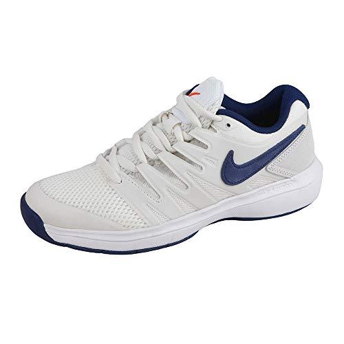 Nike Air Zoom Prestige CPT, Chaussures de Tennis garçon, Multicolore (Phantom/Blue Void/Sail/Orange Blaze 044), 36.5 EU