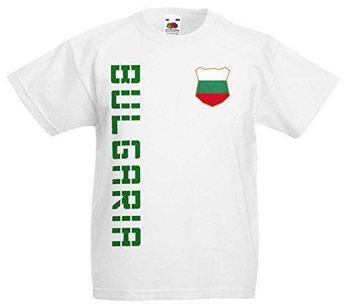 Bulgarien Bulgaria Kinder-Shirt Name Nummer Trikot EM-2021 Weiß 140